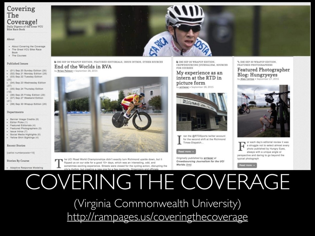 COVERING THE COVERAGE (Virginia Commonwealth Un...