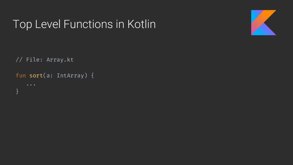 Top Level Functions in Kotlin // File: Array.kt...
