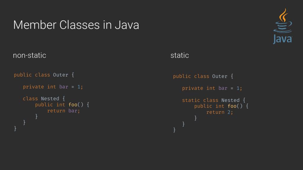 Member Classes in Java public class Outer { pri...