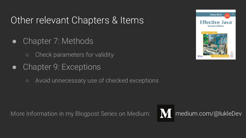 Other relevant Chapters & Items ● Chapter 7: Me...