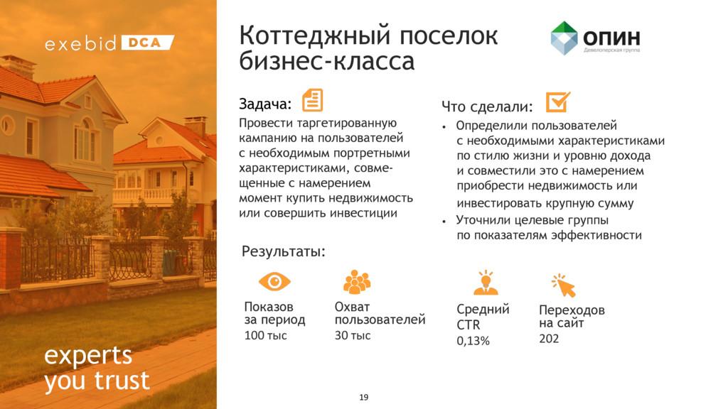 experts you trust Коттеджный поселок бизнес-кла...