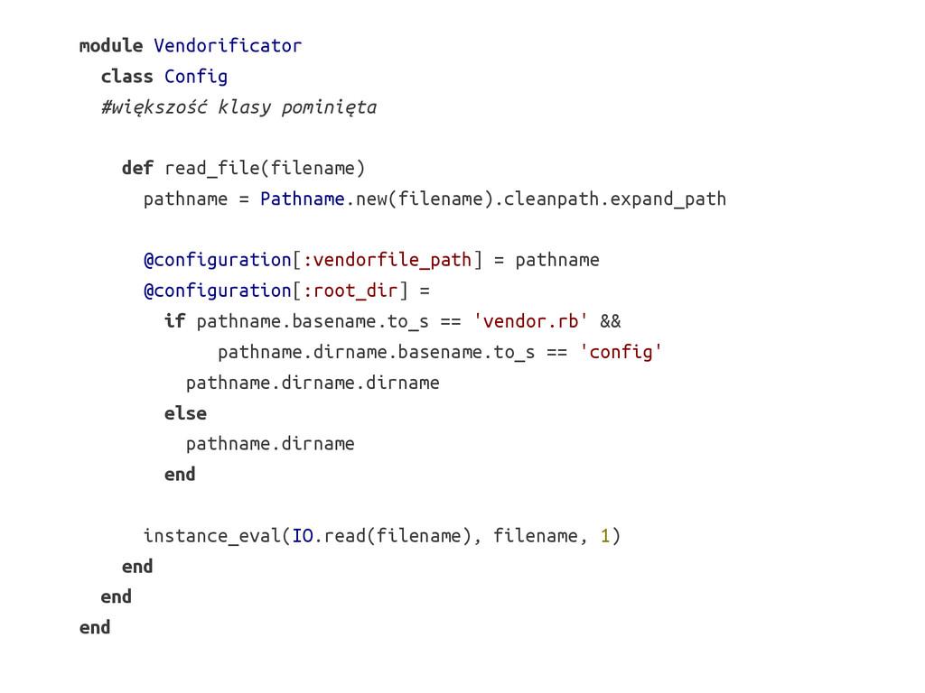 module Vendorificator class Config #większość k...