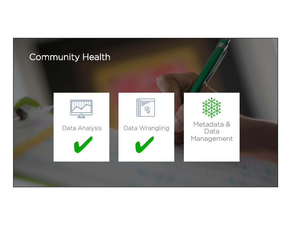 Community Health Metadata & Data Management Dat...