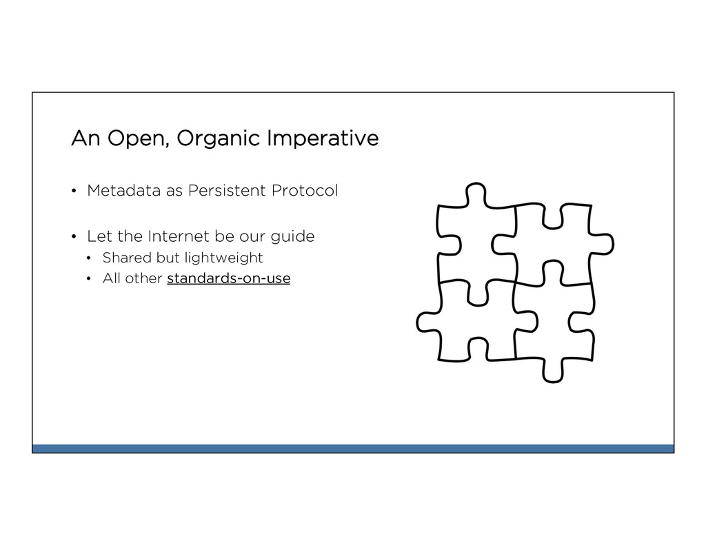 An Open, Organic Imperative • Metadata as Pers...
