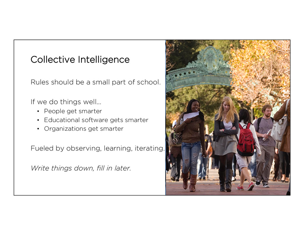 Collective Intelligence Rules should be a small...