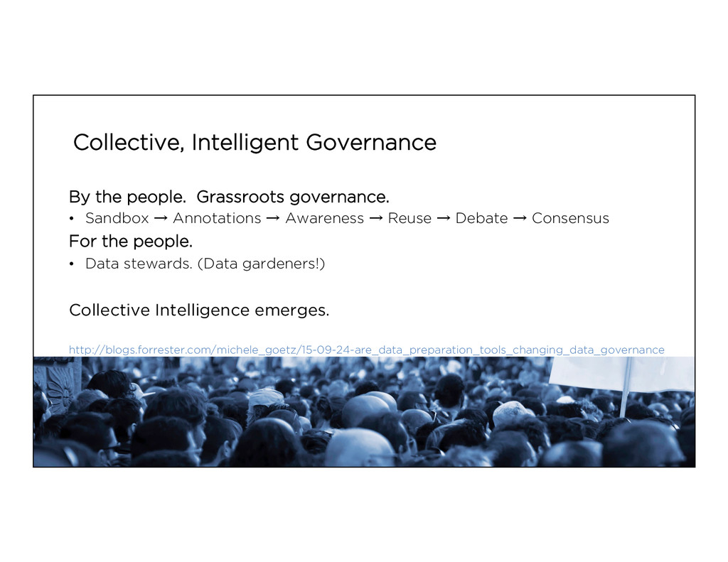Collective, Intelligent Governance By the peopl...