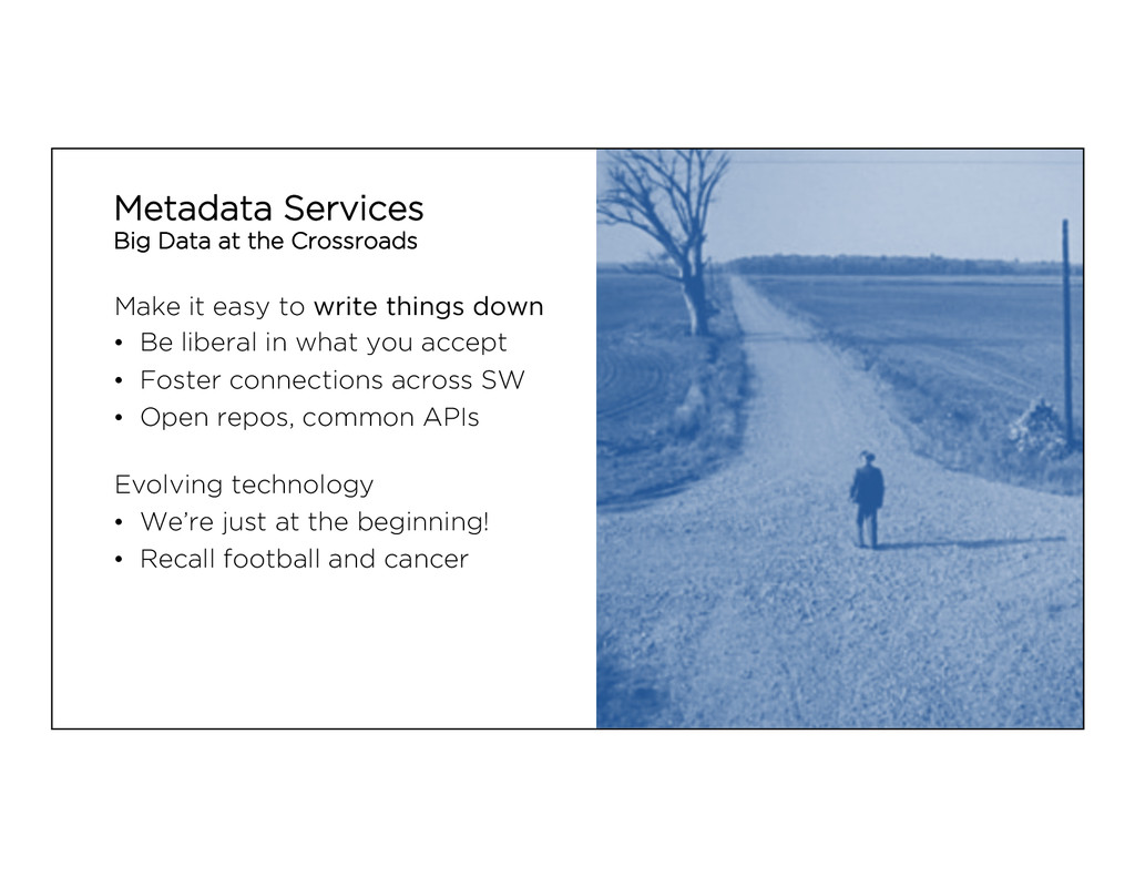 Metadata Services Big Data at the Crossroads Ma...