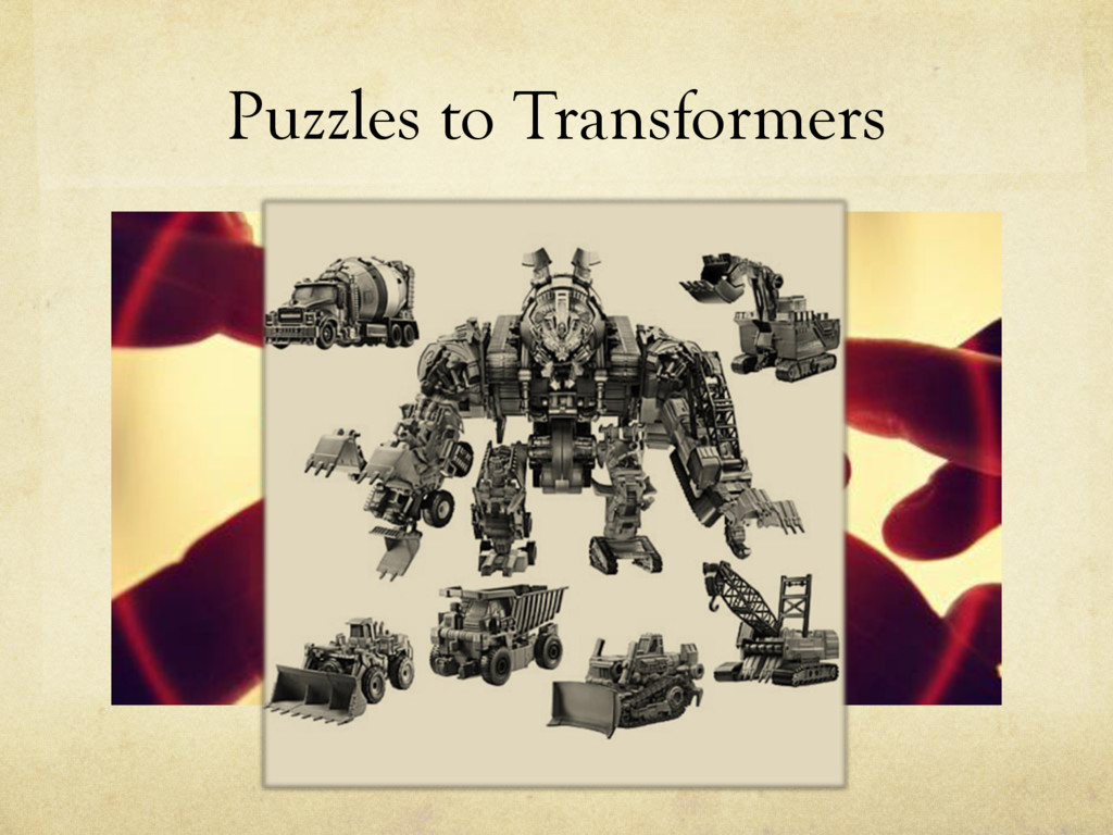 Puzzles to Transformers