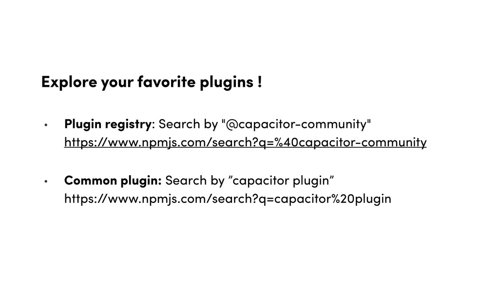 Explore your favorite plugins ! • Plugin regist...