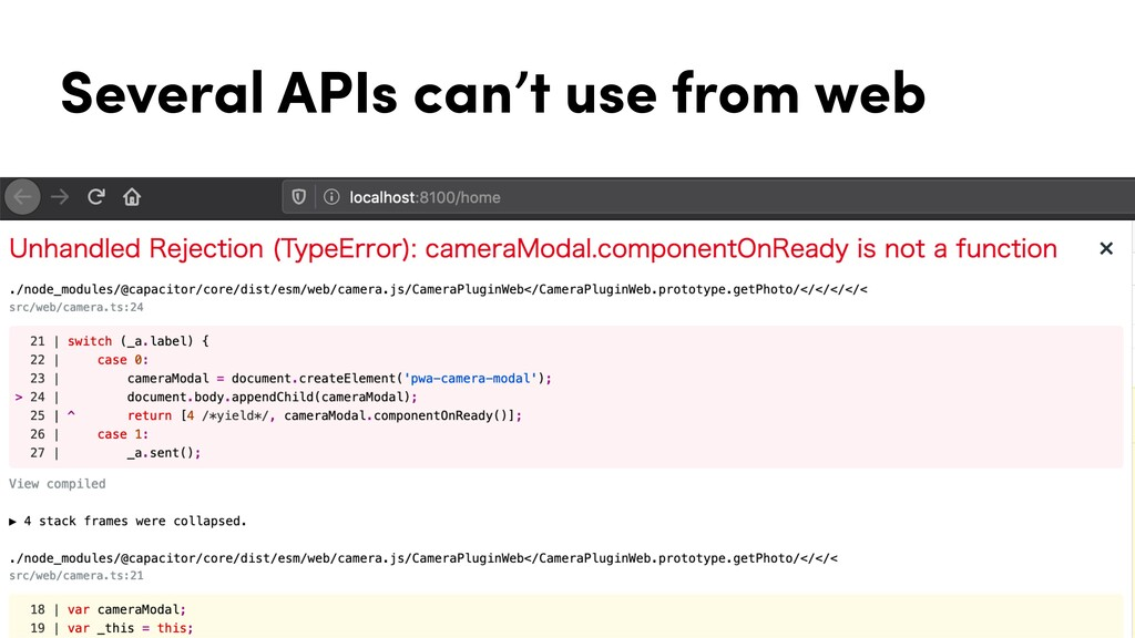 Several APIs can't use from web
