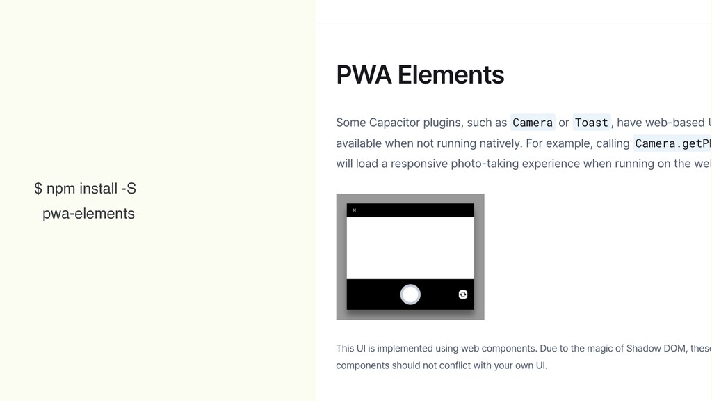 $ npm install -S