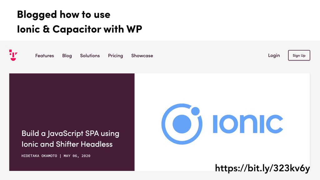 Blogged how to use Ionic & Capacitor with WP ht...