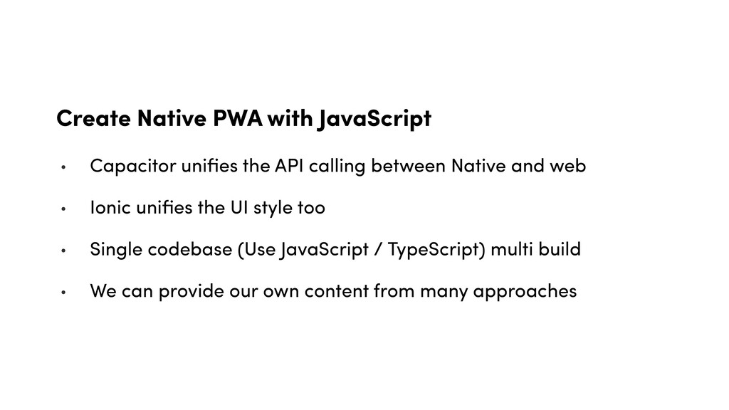 Create Native PWA with JavaScript • Capacitor u...