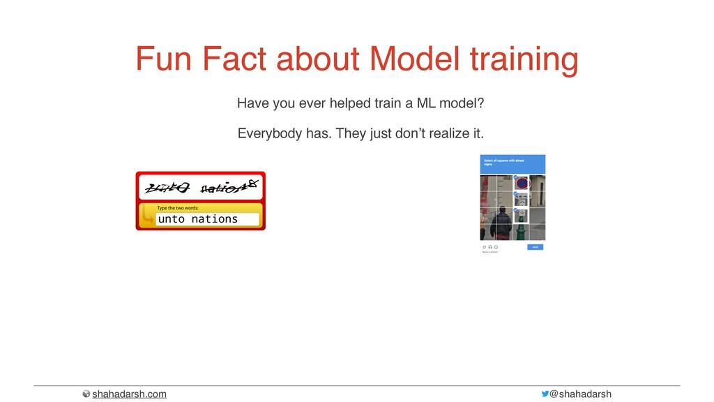 shahadarsh.com @shahadarsh Fun Fact about Model...