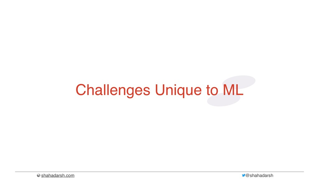 shahadarsh.com @shahadarsh Challenges Unique to...