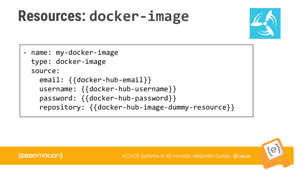 @lekum Resources: docker-image - name: my-docke...