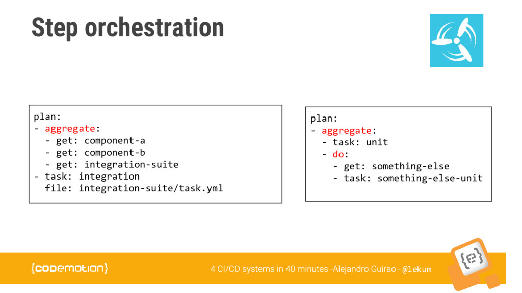 @lekum Step orchestration plan: - aggregate: - ...