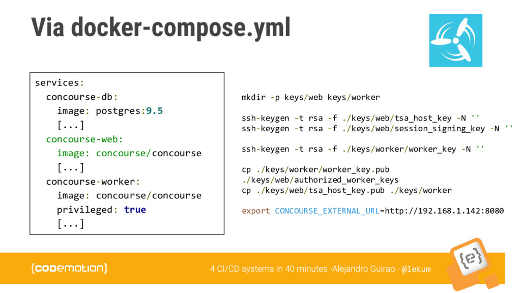 @lekum Via docker-compose.yml services: concour...