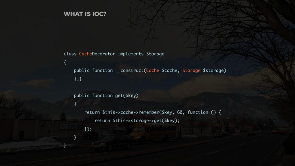 class CacheDecorator implements Storage { publi...