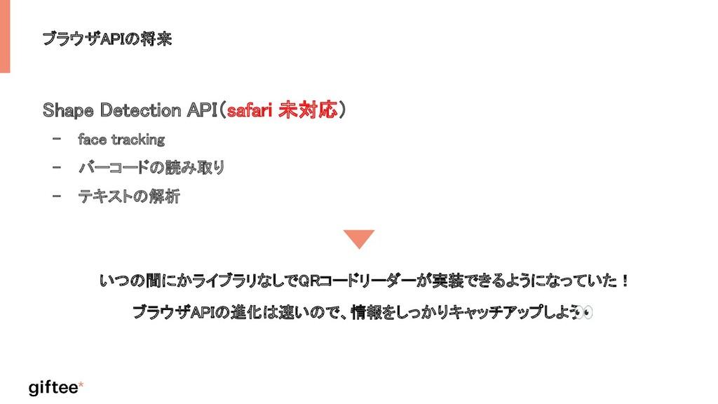 ブラウザAPIの将来 Shape Detection API(safari 未対応) - f...