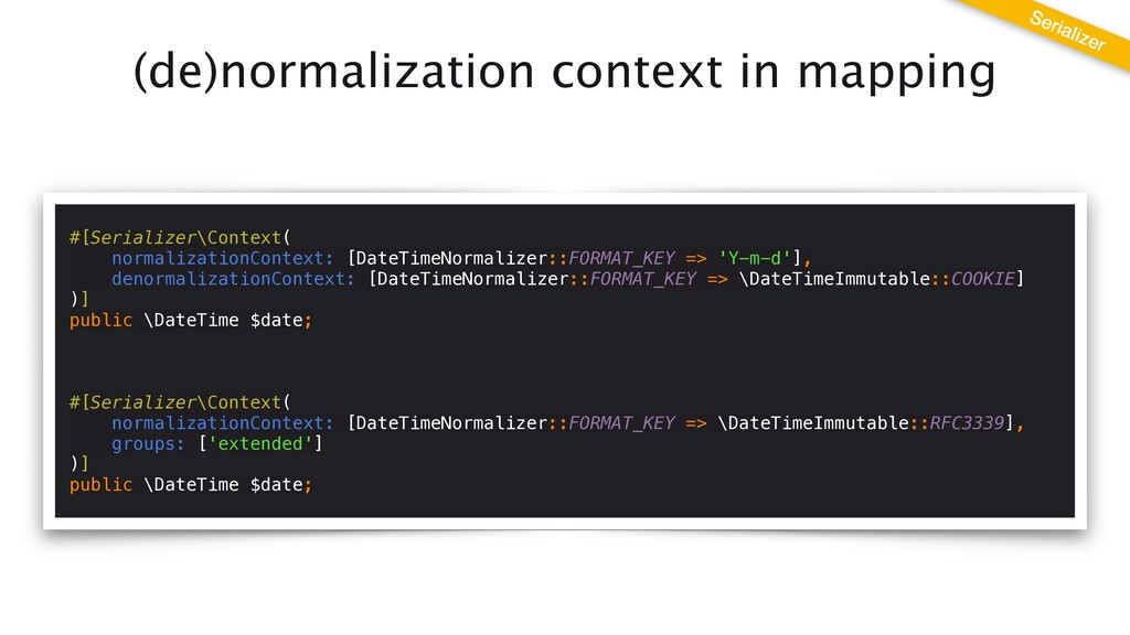 (de)normalization context in mapping Serializer...