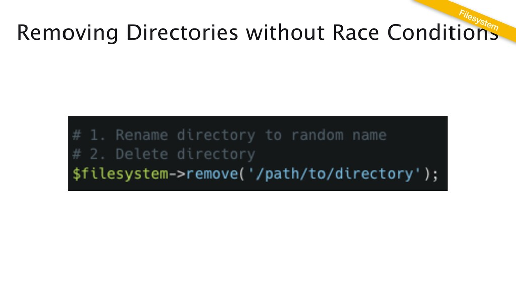 Removing Directories without Race Conditions Fi...