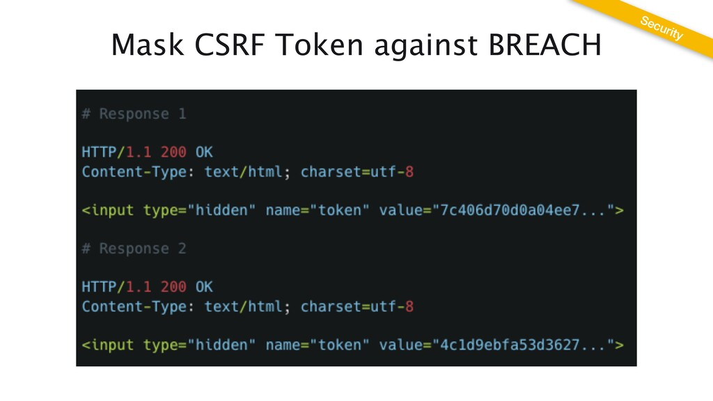 Mask CSRF Token against BREACH Security