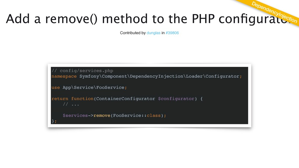 Add a remove() method to the PHP con fi gurator...