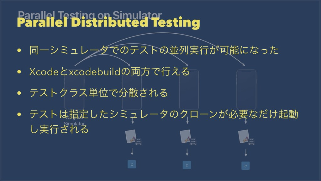 Parallel Distributed Testing • ಉҰγϛϡϨʔλͰͷςετͷฒྻ...