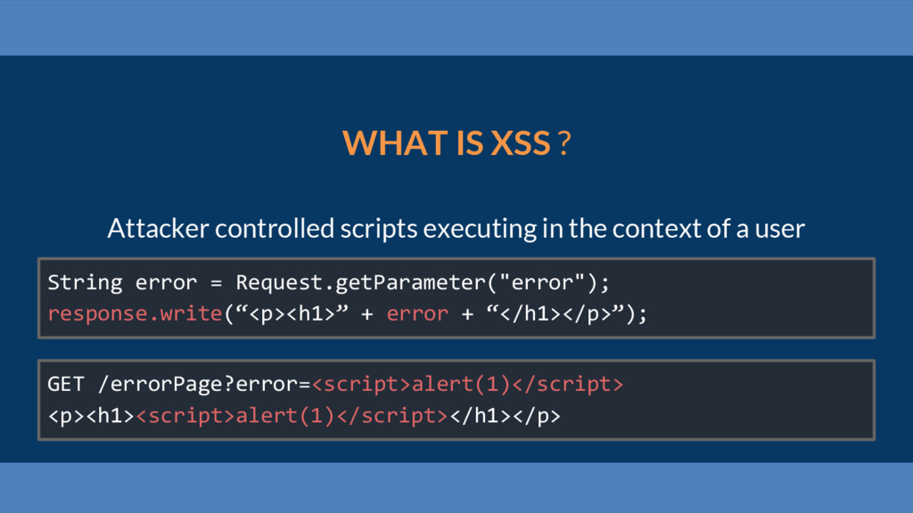 WHAT IS XSS ? Attacker controlled scripts execu...
