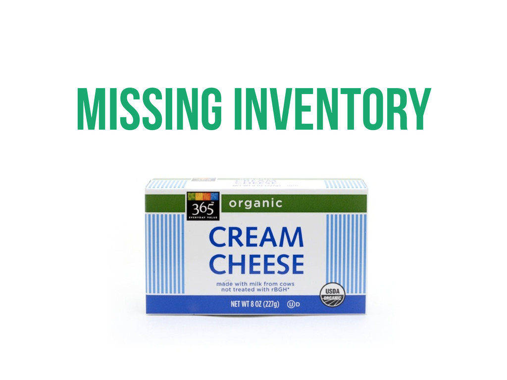 Missing inventory