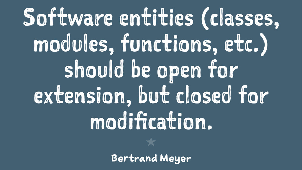 Software entities (classes, modules, functions,...
