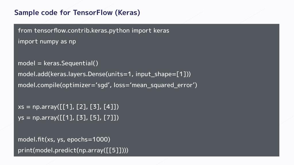 Sample code for TensorFlow (Keras) from tensorfl...