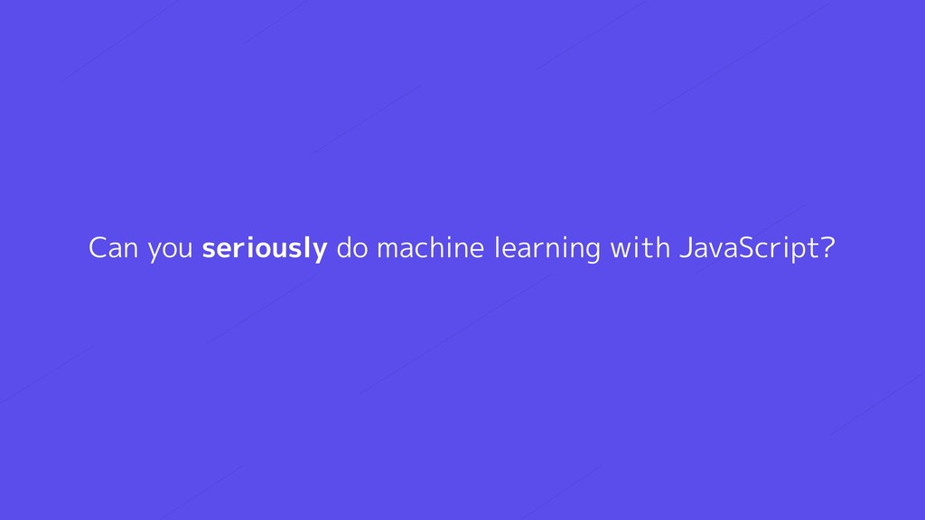 Can you seriously do machine learning with Java...