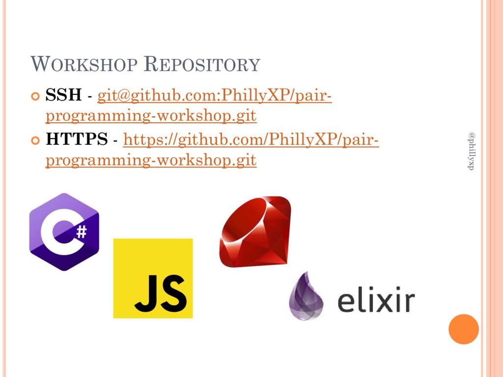 WORKSHOP REPOSITORY  SSH - git@github.com:Phil...
