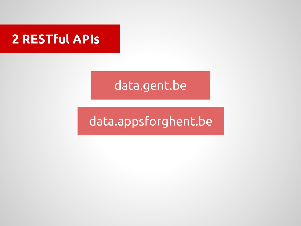 2 RESTful APIs data.gent.be data.appsforghent.be