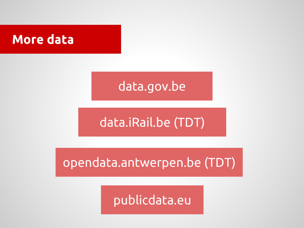 More data data.gov.be data.iRail.be (TDT) opend...