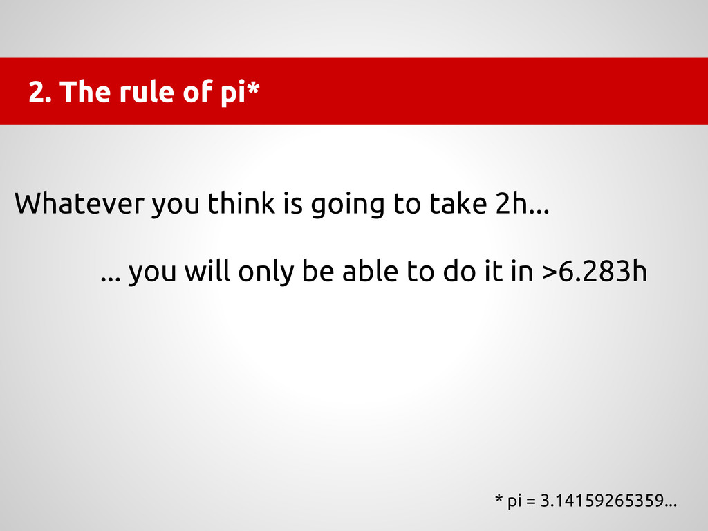 2. The rule of pi* * pi = 3.14159265359... What...