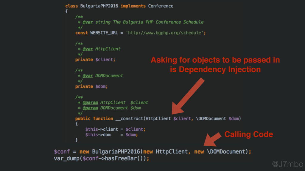Asking for objects to be passed in is Dependenc...