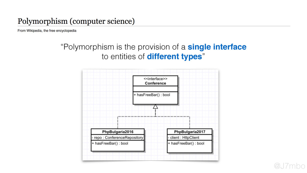 """Polymorphism is the provision of a single inte..."