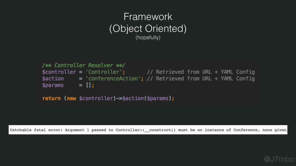 Framework (Object Oriented) (hopefully) @J7mbo
