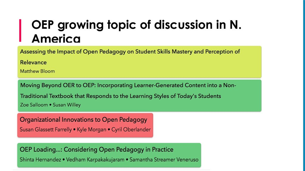 OEP growing topic of discussion in N. America S...