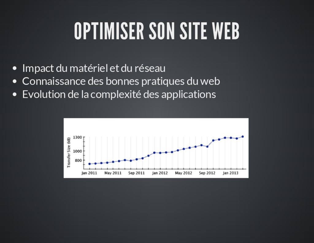 OPTIMISER SON SITE WEB Impact du matériel et du...