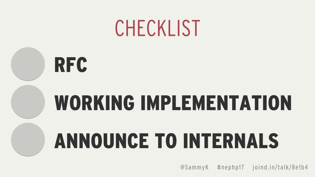 @SammyK #nephp17 joind.in/talk/8e1b4 RFC WORKIN...