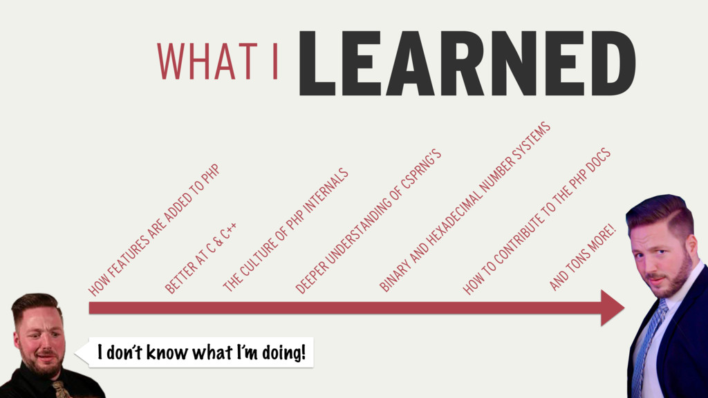 LEARNED WHAT I I don't know what I'm doing! HOW...