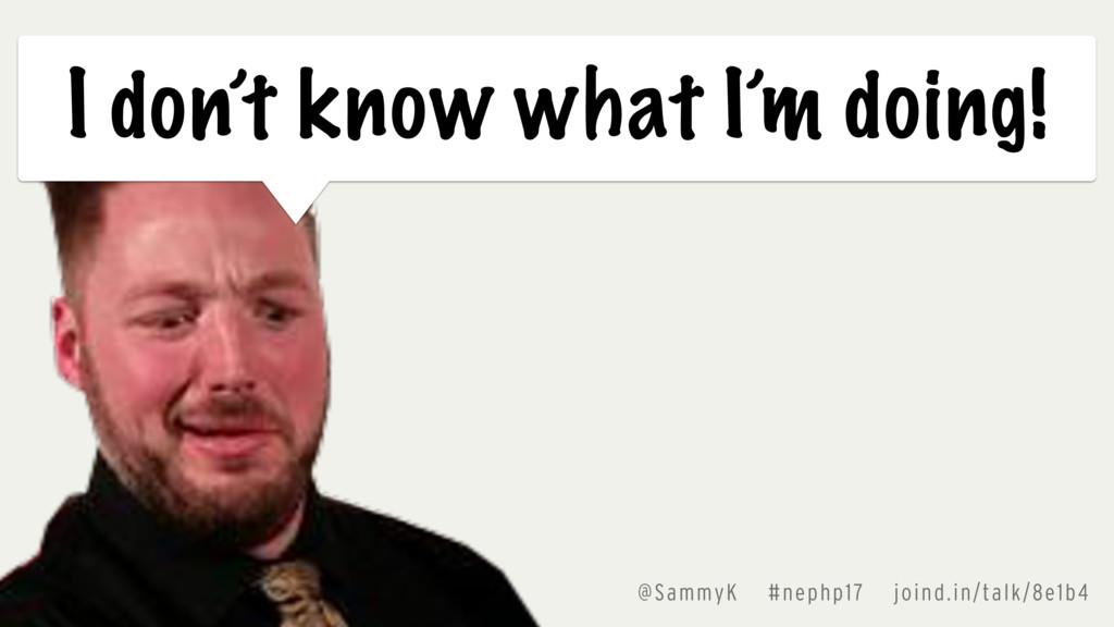 @SammyK #nephp17 joind.in/talk/8e1b4 I don't kn...