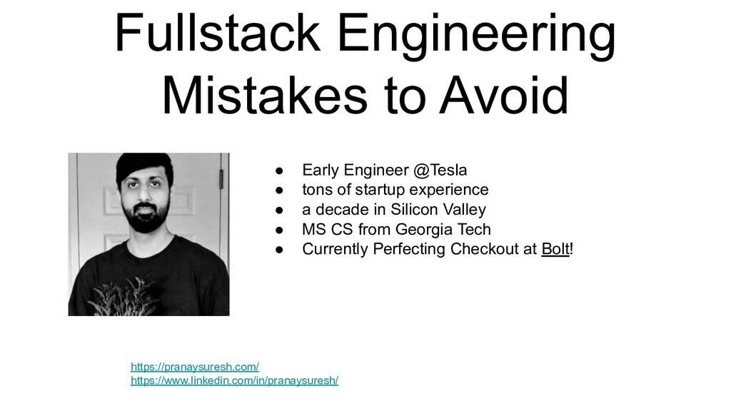 Fullstack Engineering Mistakes to Avoid https:/...