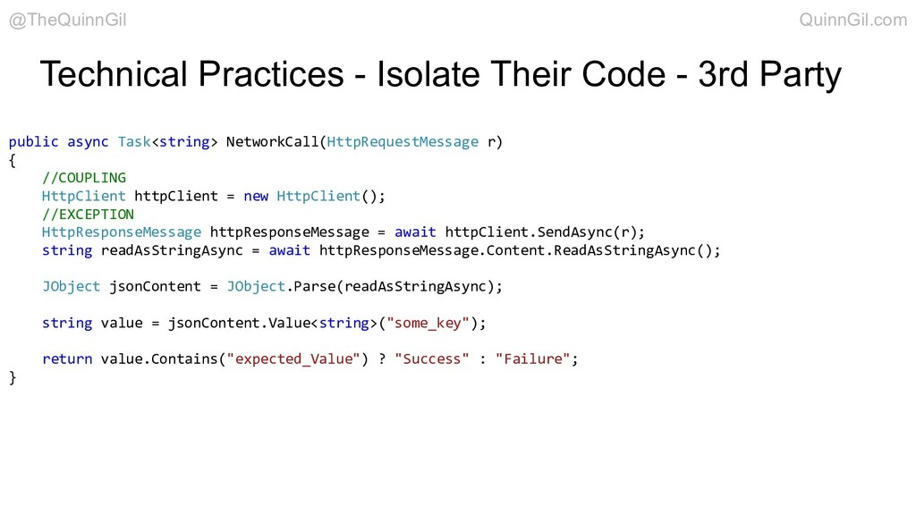 Technical Practices - Isolate Their Code - 3rd ...