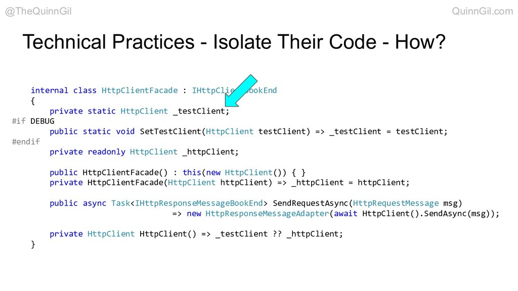 Technical Practices - Isolate Their Code - How?...