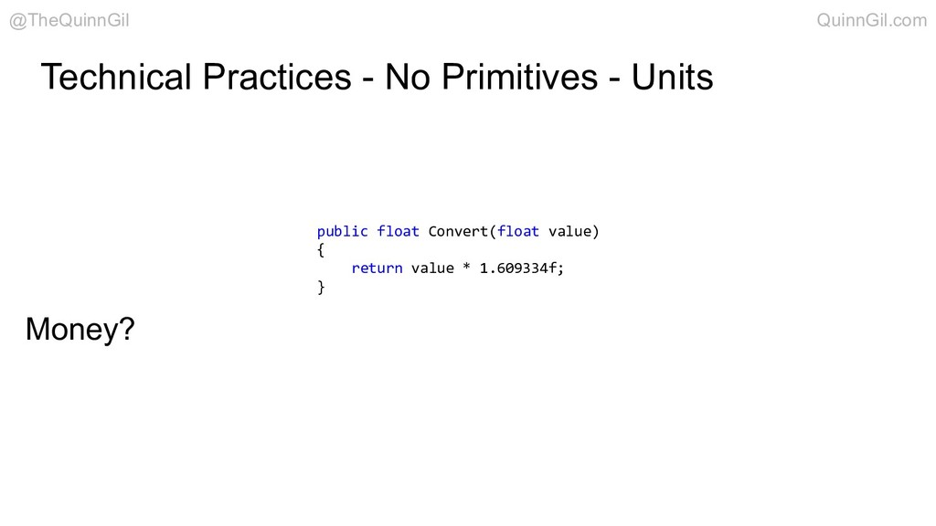 Technical Practices - No Primitives - Units pub...